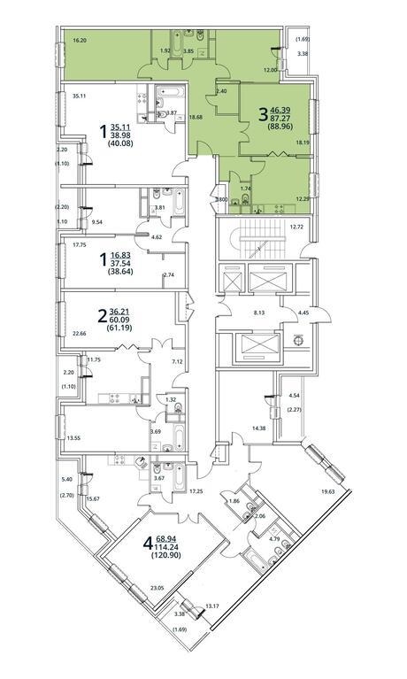 Москва, 3-х комнатная квартира, ул. Радиальная 6-я д.7, 8451200 руб.