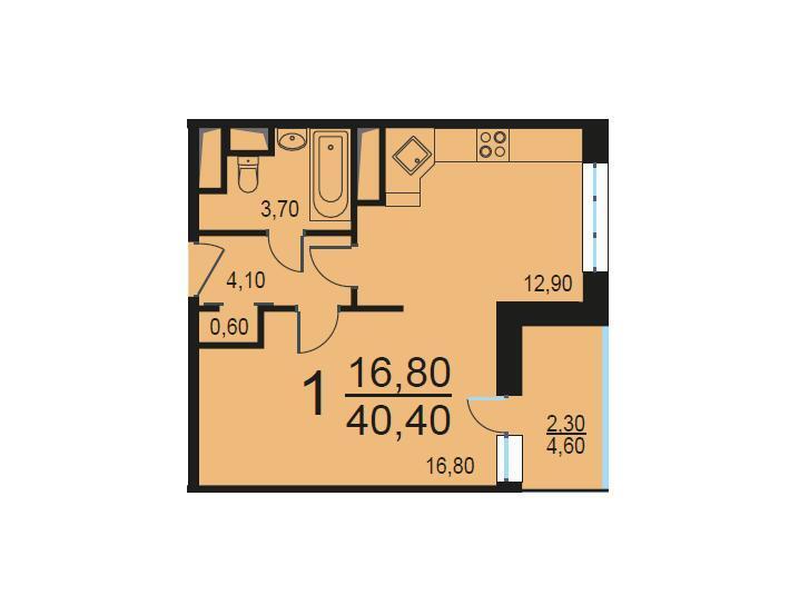 Москва, 1-но комнатная квартира, Внутренний проезд д.8с3, 8219299 руб.