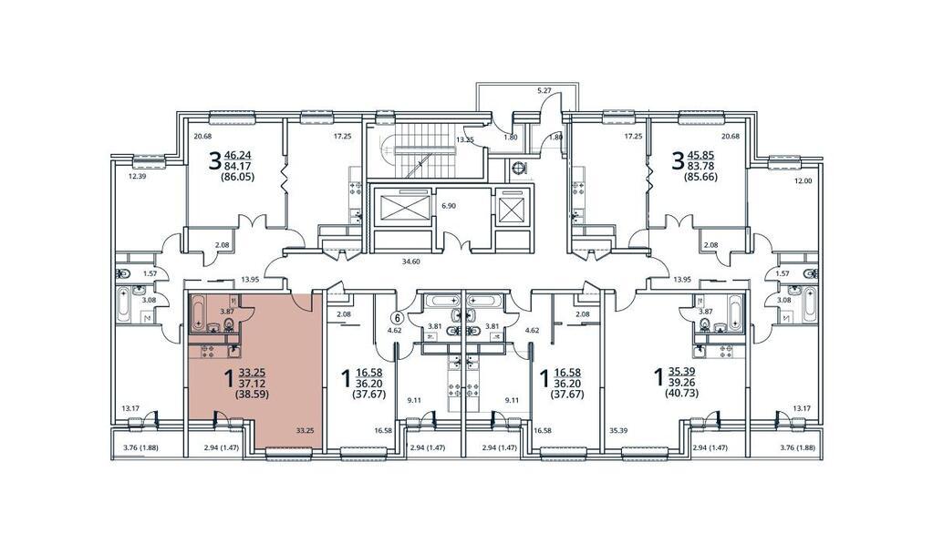 Москва, 1-но комнатная квартира, ул. Радиальная 6-я д.7, к 28/29, 3632090 руб.
