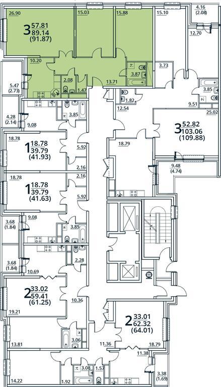 Москва, 3-х комнатная квартира, ул. Радиальная 6-я д.7, 8883829 руб.