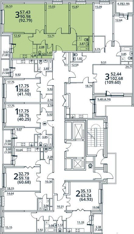 Москва, 3-х комнатная квартира, ул. Радиальная 6-я д.7, к 28/29, 8815050 руб.