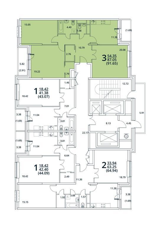 Москва, 3-х комнатная квартира, ул. Радиальная 6-я д.7, 8706750 руб.