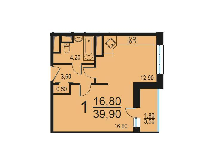 Москва, 1-но комнатная квартира, Внутренний проезд д.8с3, 8045596 руб.
