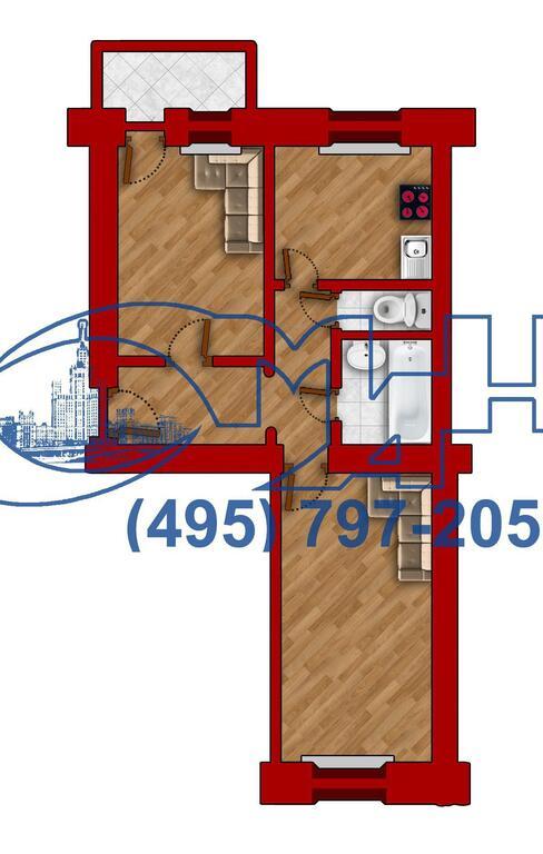 Москва, 2-х комнатная квартира, ул. Новопесчаная д.8 к2, 12000000 руб.
