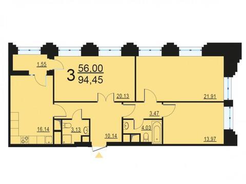 Москва, 3-х комнатная квартира, ул. Берзарина д.28, 18352202 руб.