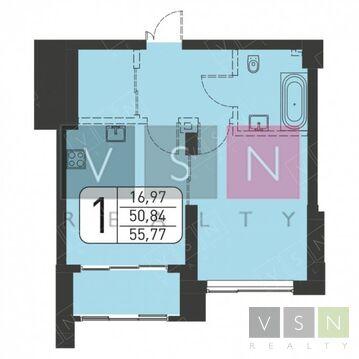 1-комнатная квартира, 56 кв.м.