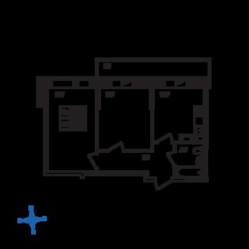 Люберцы, 2-х комнатная квартира, ул. Барыкина д., 4626634 руб.
