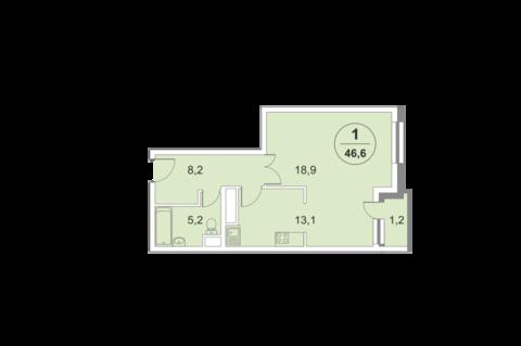 2-комнатная квартира, 66 кв.м., в ЖК «ФилиЧета-2»