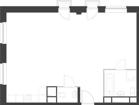 2-комнатная квартира, 67 кв.м., в Два дома 20&20