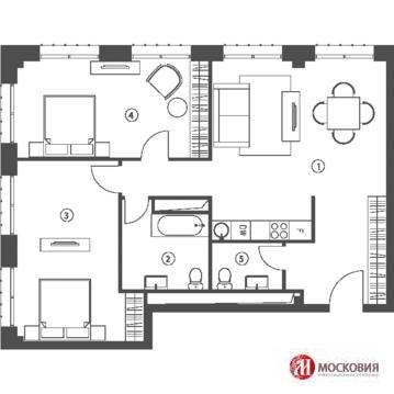 3-комнатная квартира, 88 кв.м.