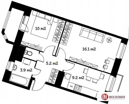 Видное, 2-х комнатная квартира, ул. Софийская д.15, 3300000 руб.