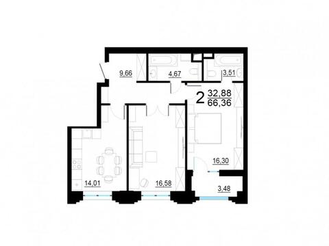 Москва, 2-х комнатная квартира, ул. Берзарина д.28, 12501670 руб.