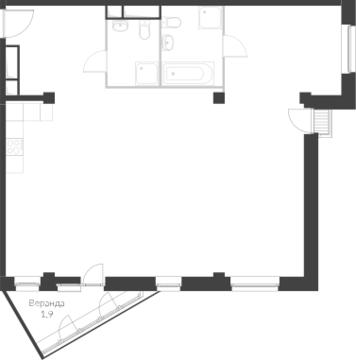3-комнатная квартира, 100 кв.м., в Два дома 20&20