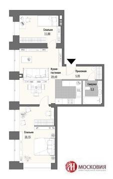 """2-комнатная квартира, 76 кв.м., в ЖК """"Парк Мира"""""""