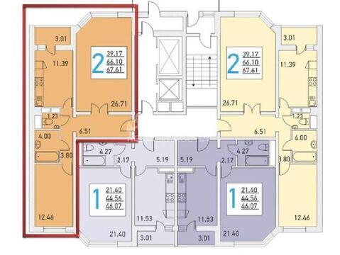 Долгопрудный, 2-х комнатная квартира, Ракетостроителей пр-кт д.7К1, 5900000 руб.