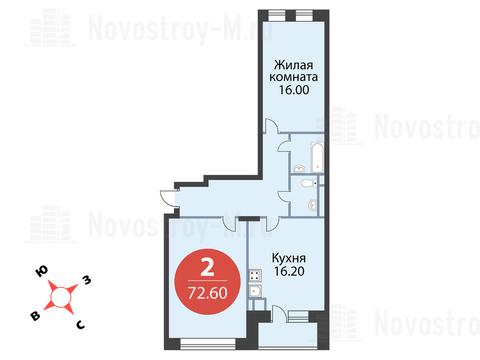 Павловская Слобода, 2-х комнатная квартира, ул. Красная д.д. 9, корп. 56, 6207300 руб.