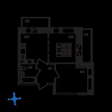 Люберцы, 2-х комнатная квартира, ул. Барыкина д., 3953102 руб.