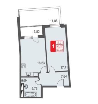 Москва, 1-но комнатная квартира, ул. Живописная д.12, 3510756 руб.