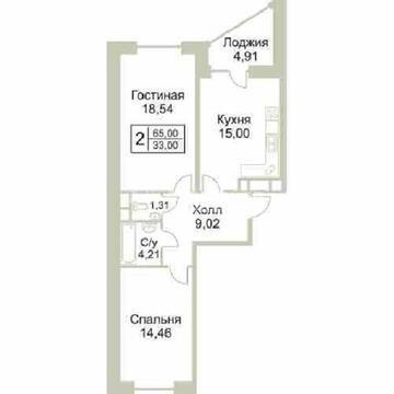 Продажа 2 комнатной квартиры в Раменское (Крымская ул)