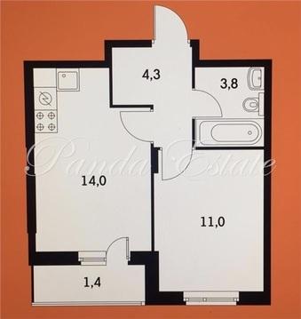 Котельники, 1-но комнатная квартира, Сосновая улица д.1к3, 4750000 руб.