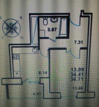Продаётся 1-комнатная квартира по адресу Садовый сек3
