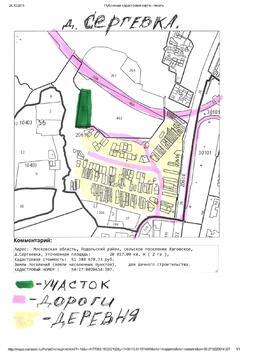 Земельный участок, 2 га, д. Сергеевка, Подольск., 14000000 руб.