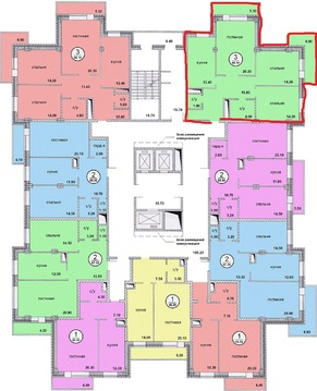 "1-комнатная квартира, 45 кв.м., в ЖК ""Московские Водники"""