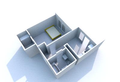 1-комнатная квартира, 42 кв.м., в ЖК «Лесной городок»