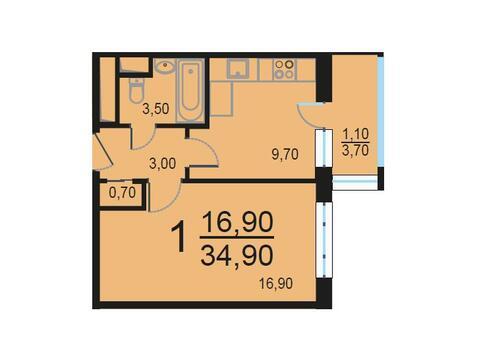 Москва, 1-но комнатная квартира, Внутренний проезд д.8с1, 6983106 руб.