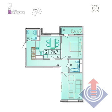 Мытищи, 2-х комнатная квартира,  д., 6009500 руб.