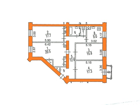 Продается комната 18 кв м в 4х ком кв-ре, Варшавское ш, д. 2