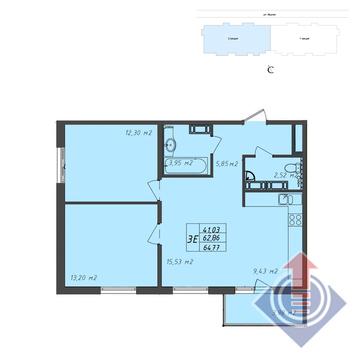 Щелково, 3-х комнатная квартира,  д., 4145280 руб.