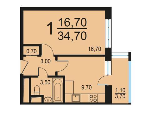 Москва, 1-но комнатная квартира, Внутренний проезд д.8с1, 7002529 руб.