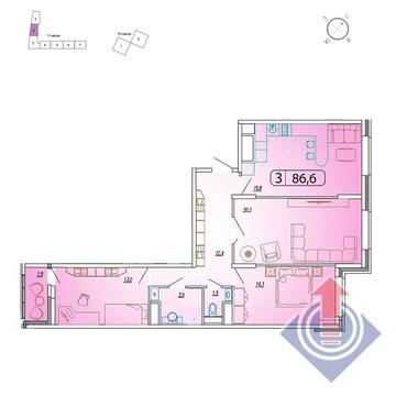"""3-комнатная квартира, в ЖК """"Отрадный"""" (г. Мытищи)"""