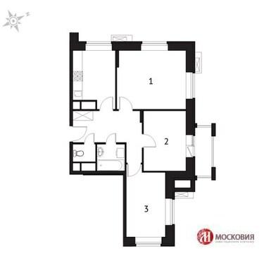 """3-комнатная квартира, 60 кв.м., в ЖК """"Солнечная система"""""""