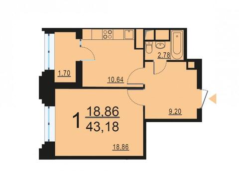 Москва, 1-но комнатная квартира, ул. Берзарина д.28с3, 8423900 руб.