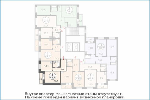 1-комн. квартира 42,5 кв.м. в новом ЖК, дом сдан в эксплуатацию