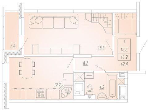 Мытищи, 1-но комнатная квартира, Ярославское ш. д.93, 3600000 руб.