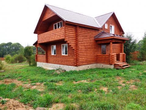 Продается новый дом с коммуникациями и газом в жилой деревне