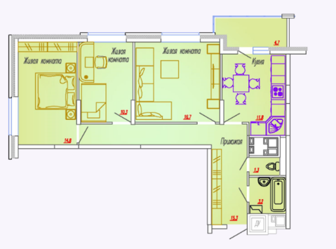 Мытищи, 3-х комнатная квартира, Ярославское ш. д.73, 5546250 руб.