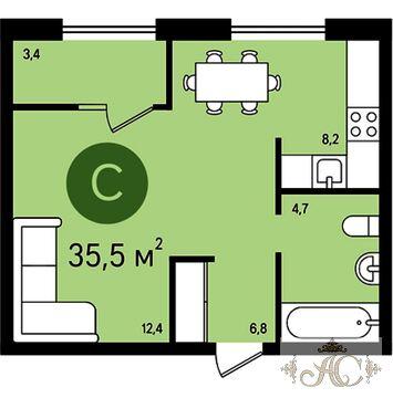 Видное, 1-но комнатная квартира, ул. Ермолинская д.3, 2790000 руб.