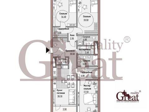"""3-комнатная квартира, 126 кв.м., в Элитный дом """"РЕНОМЭ"""""""
