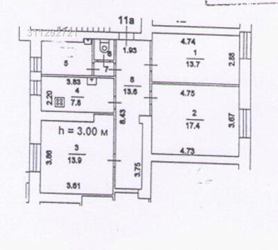 6 комнат, высота потолка 3 м. . Street retail на проезжей части, среди