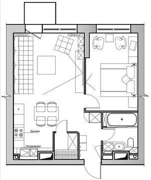"2-комнатная квартира, 50 кв.м., в ЖК ""Велтон Парк"" д. 43"