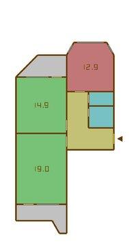 """2-комнатная квартира, 60 кв.м., в ЖК """"Некрасовка"""""""