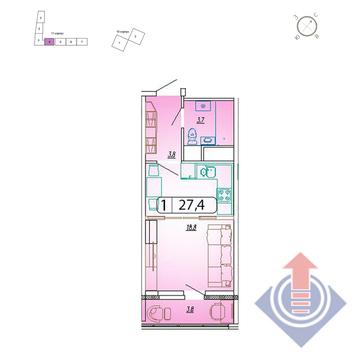 Мытищи, 1-но комнатная квартира,  д., 2520800 руб.