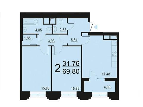 Москва, 2-х комнатная квартира, ул. Берзарина д.28, 13474820 руб.
