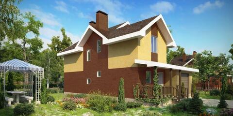 Двухэтажный коттедж проект Нева