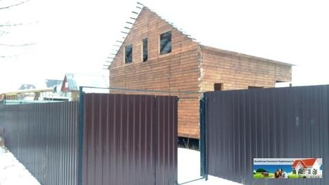 Участок на Можайском вдхр с недостроенным домом.