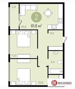 2 комнатная квратира с продуманной планировкой и отделкой